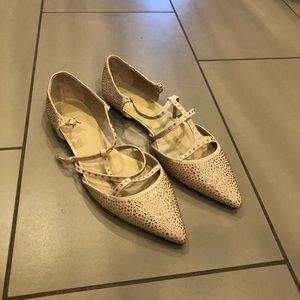 Sparkly Pointed Toe Flats